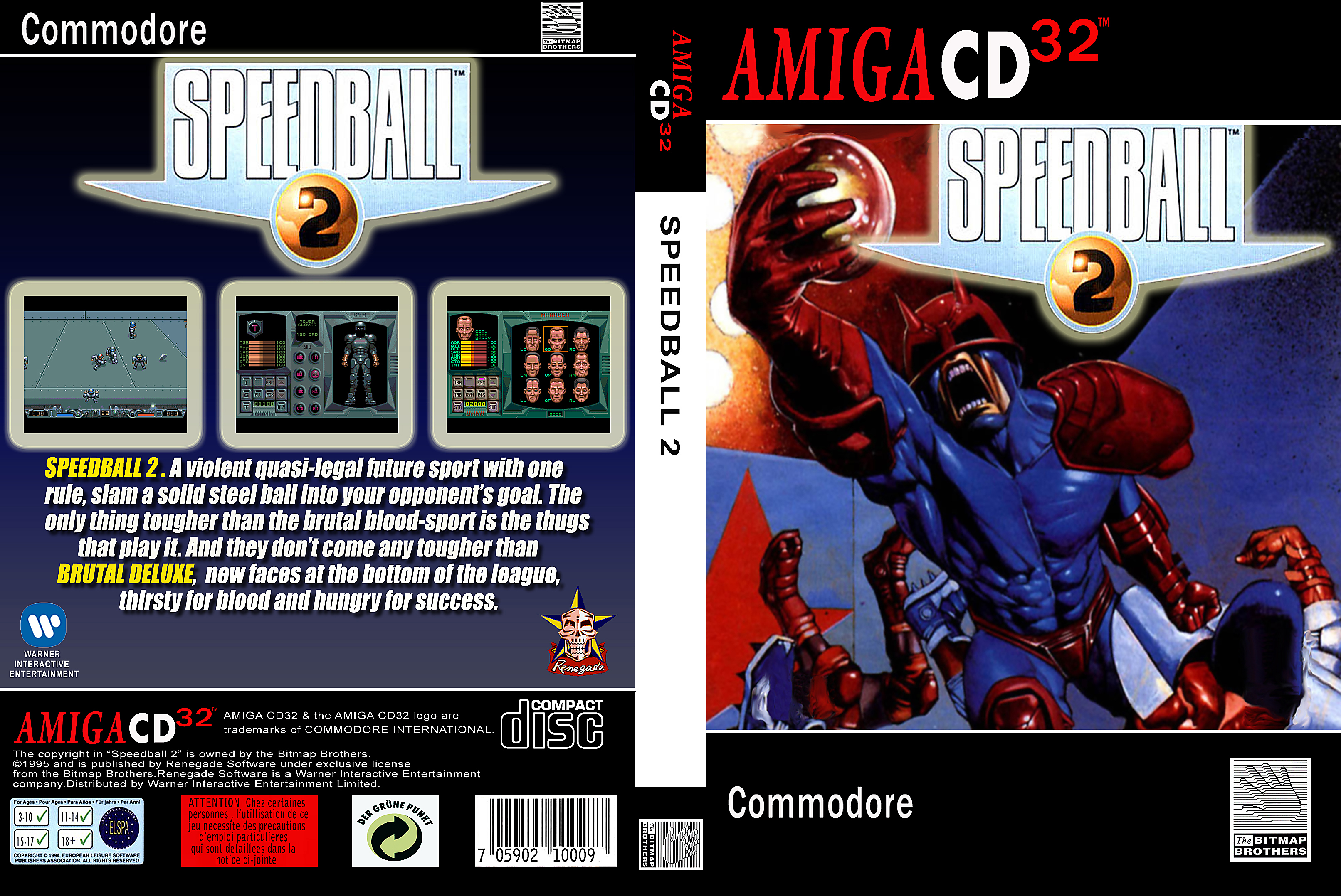 Commodore Amiga CD32 Game Cover Box Art