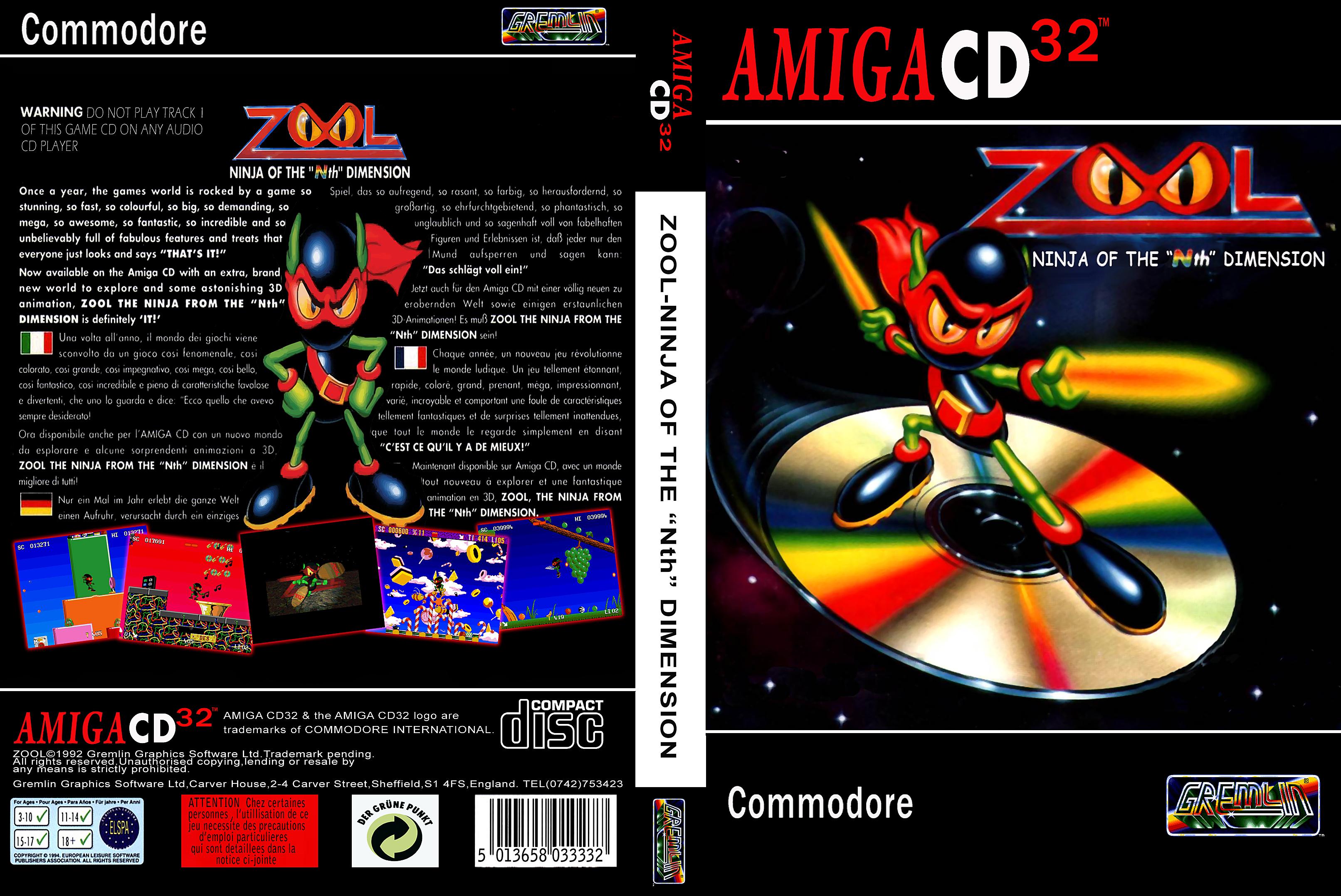 Commodore Amiga CD32 Game Covers Box Scans Box Art CD