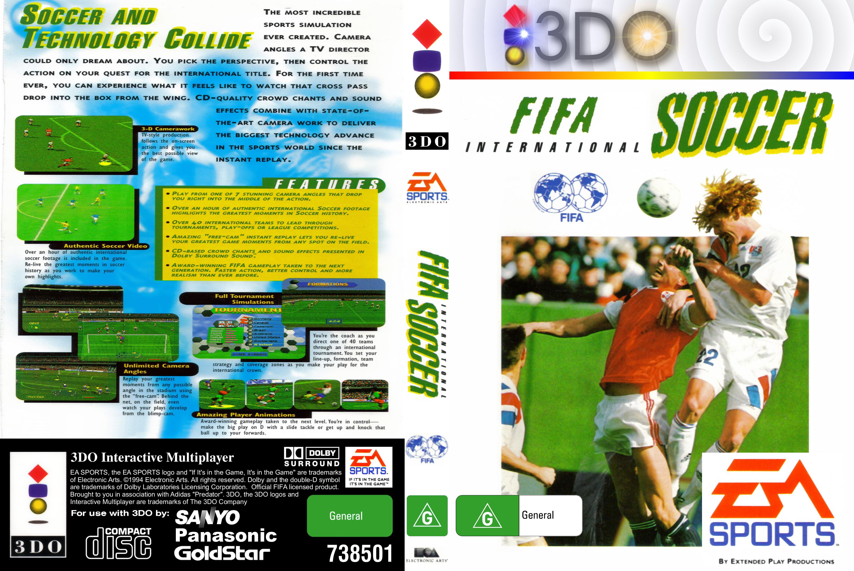 Panasonic 3DO Game Cover Box Art