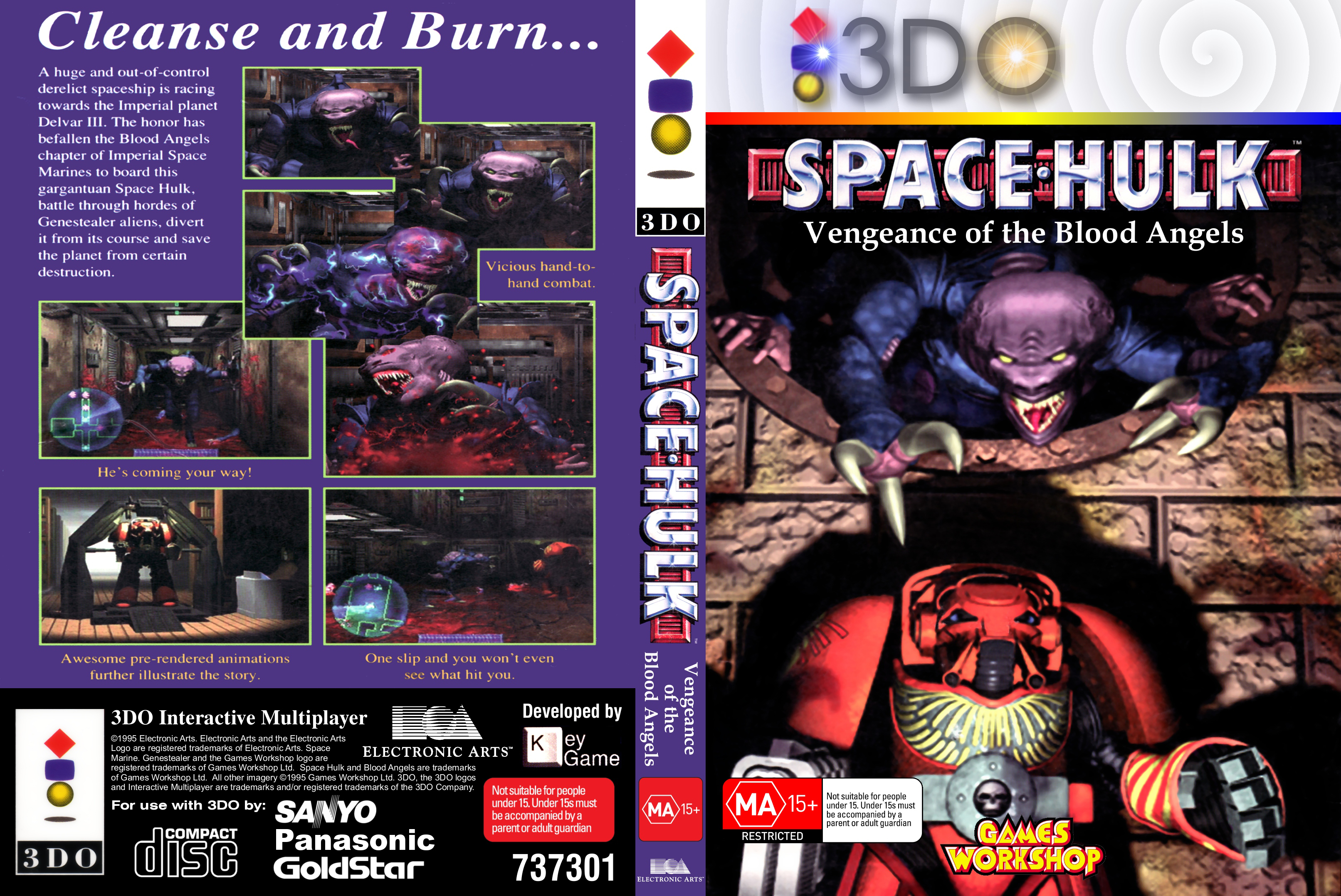 Panasonic 3DO Game Cover Box Art