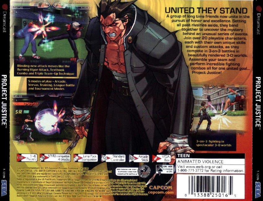 Sega Dreamcast Games USA p Game Cover Box Art