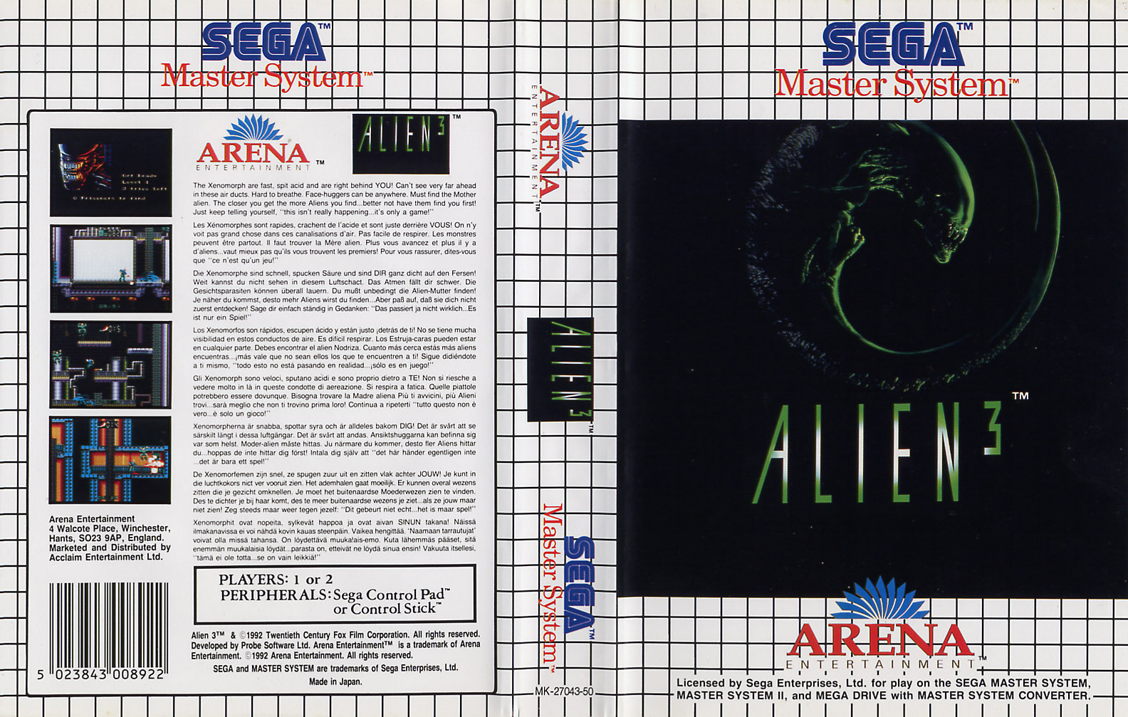 Sega Master System A Game Covers Box Scans Box Art CD ...