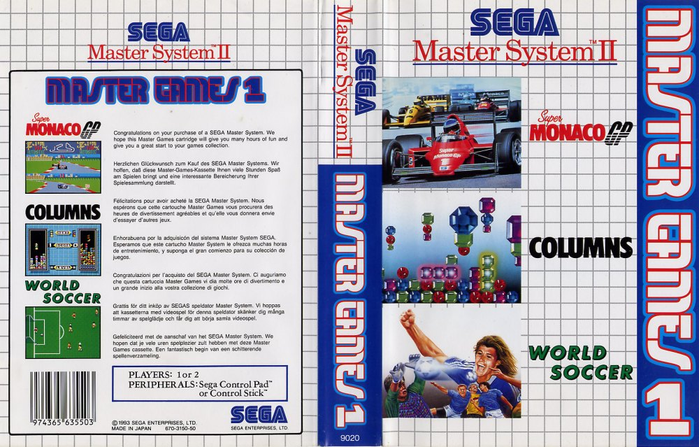 Sega Master System M Game Covers Box Scans Box Art CD ...