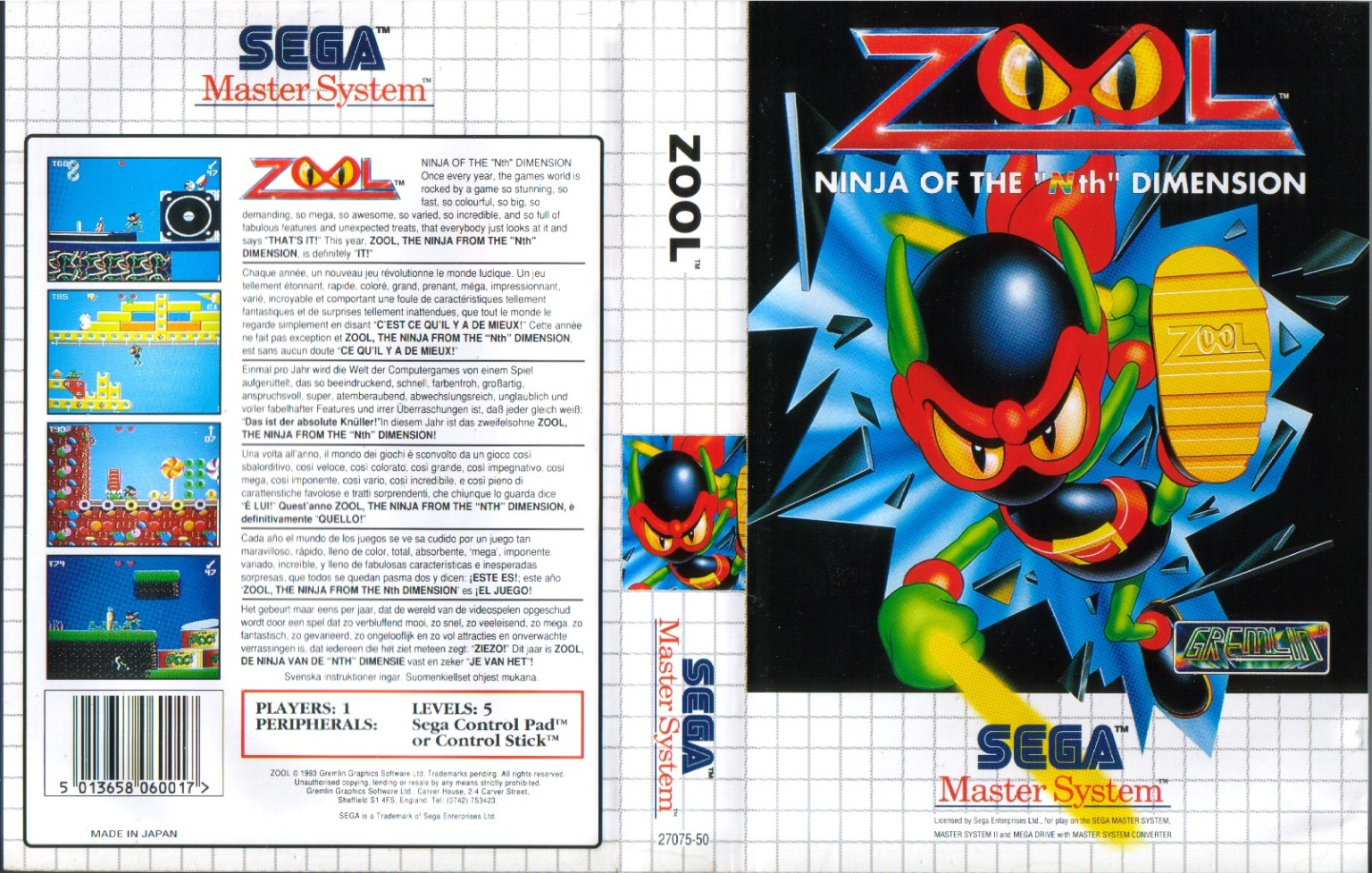 Sega Master System Z Game Covers Box Scans Box Art CD ...