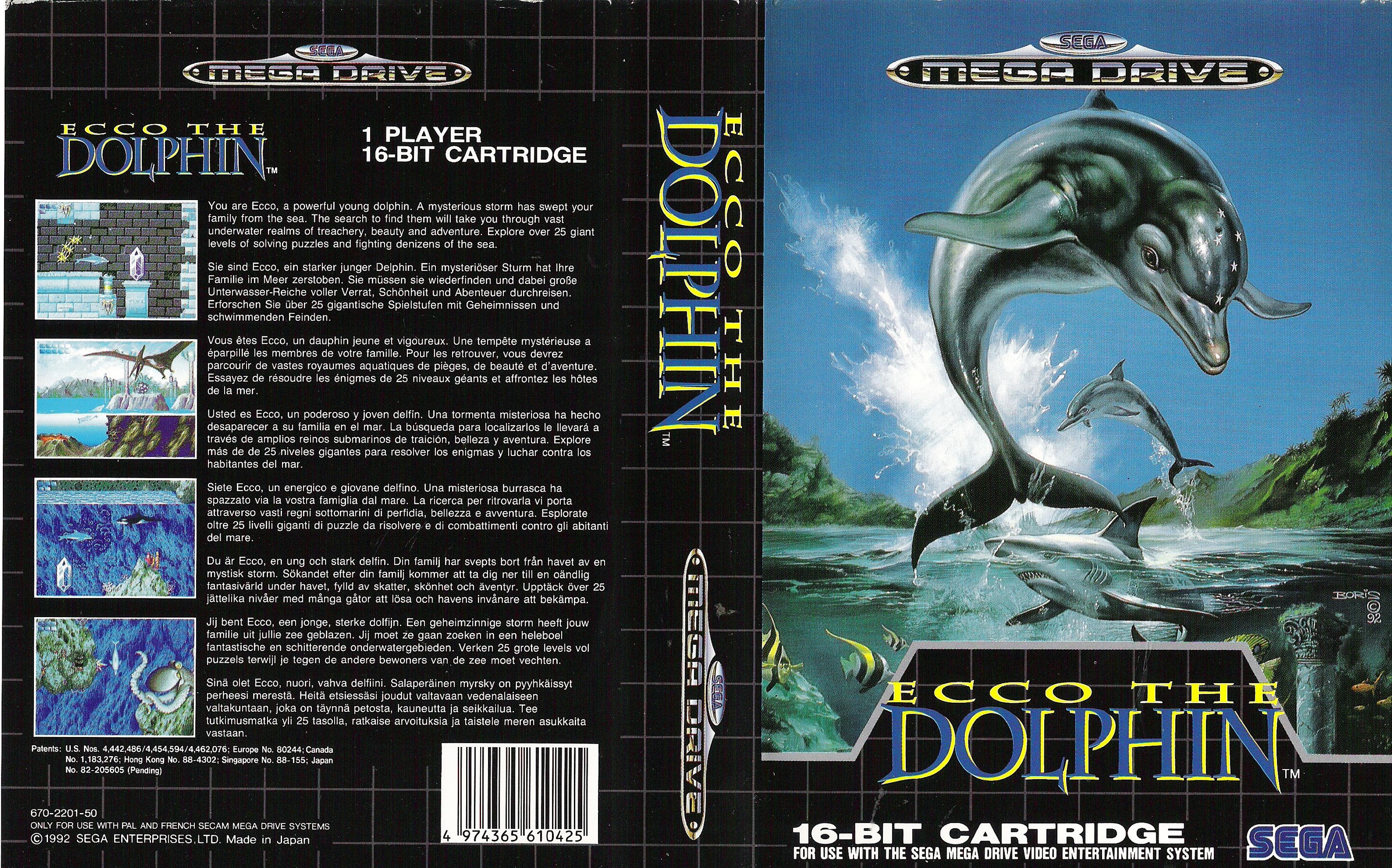 Sega Megadrive Genesis E Game Cover Box Art