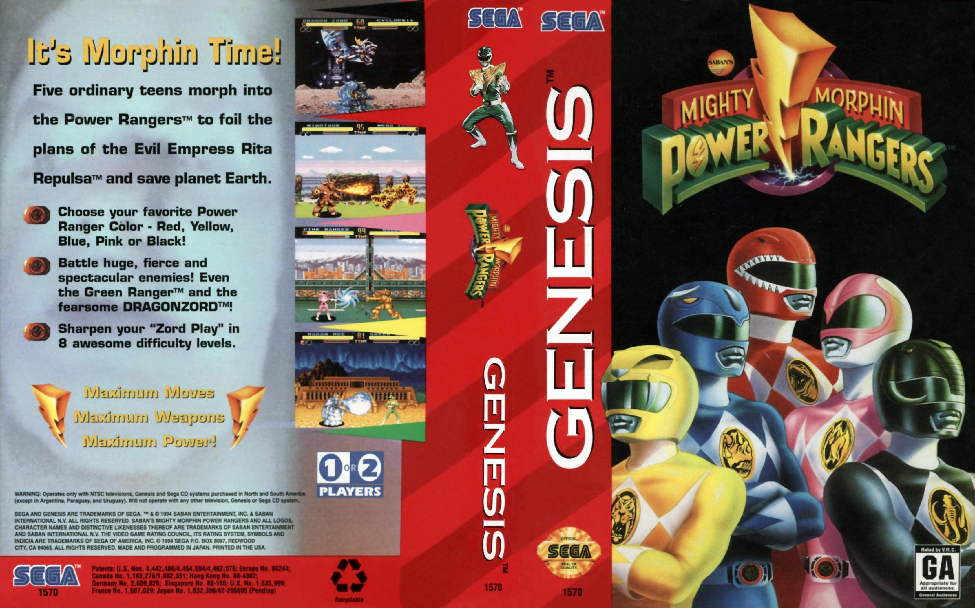 Sega Megadrive Genesis M Game Cover Box Art