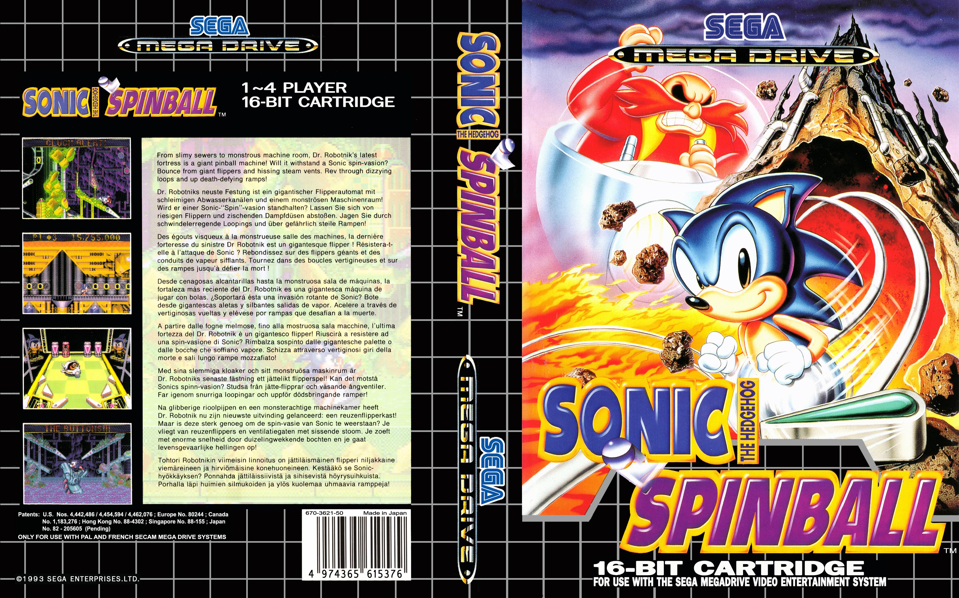 The best/worst retro Box art thread Sonic%20the%20Hedgehog%20Spinball%20(4)