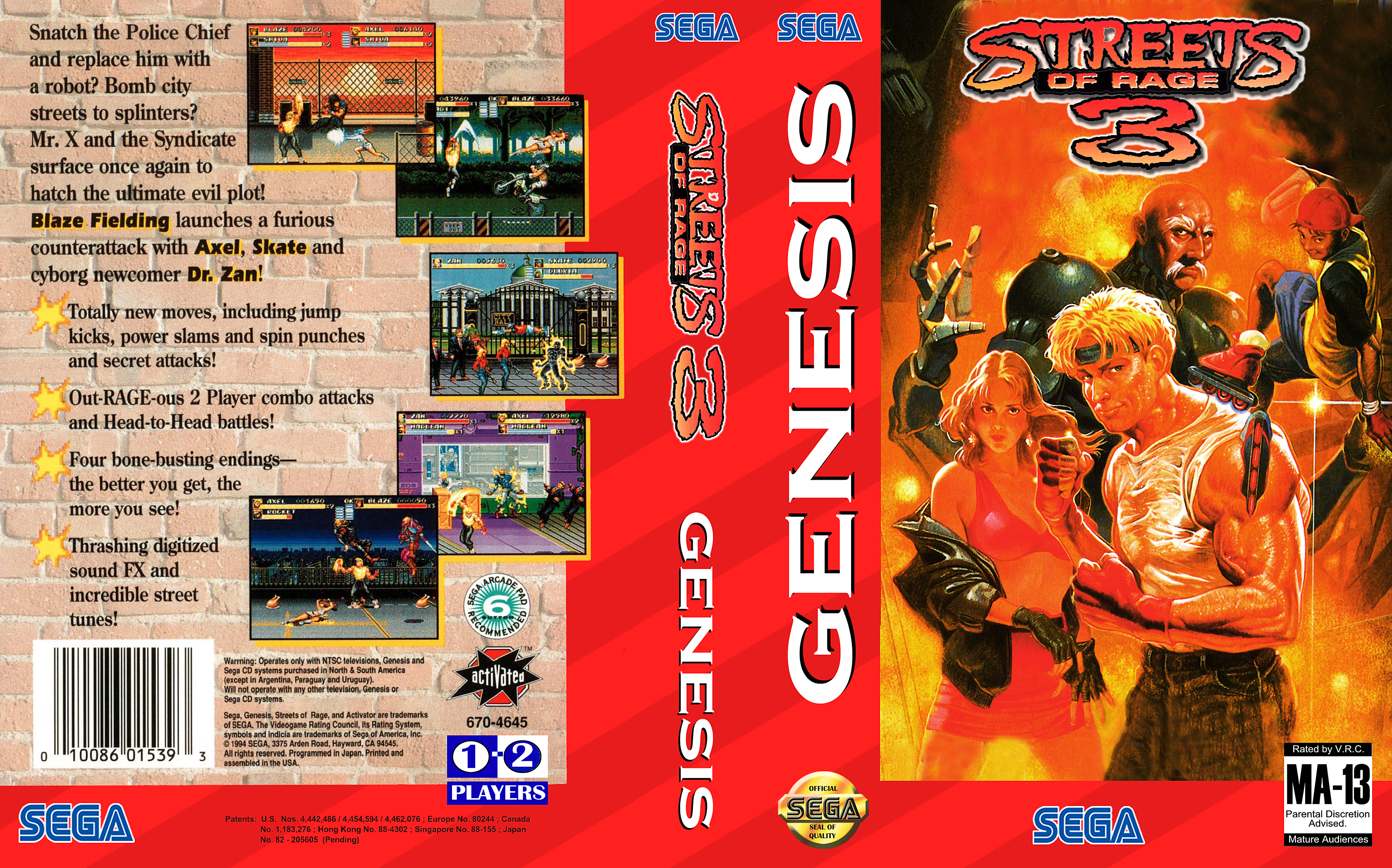 Streets of Rage 3 Game Covers