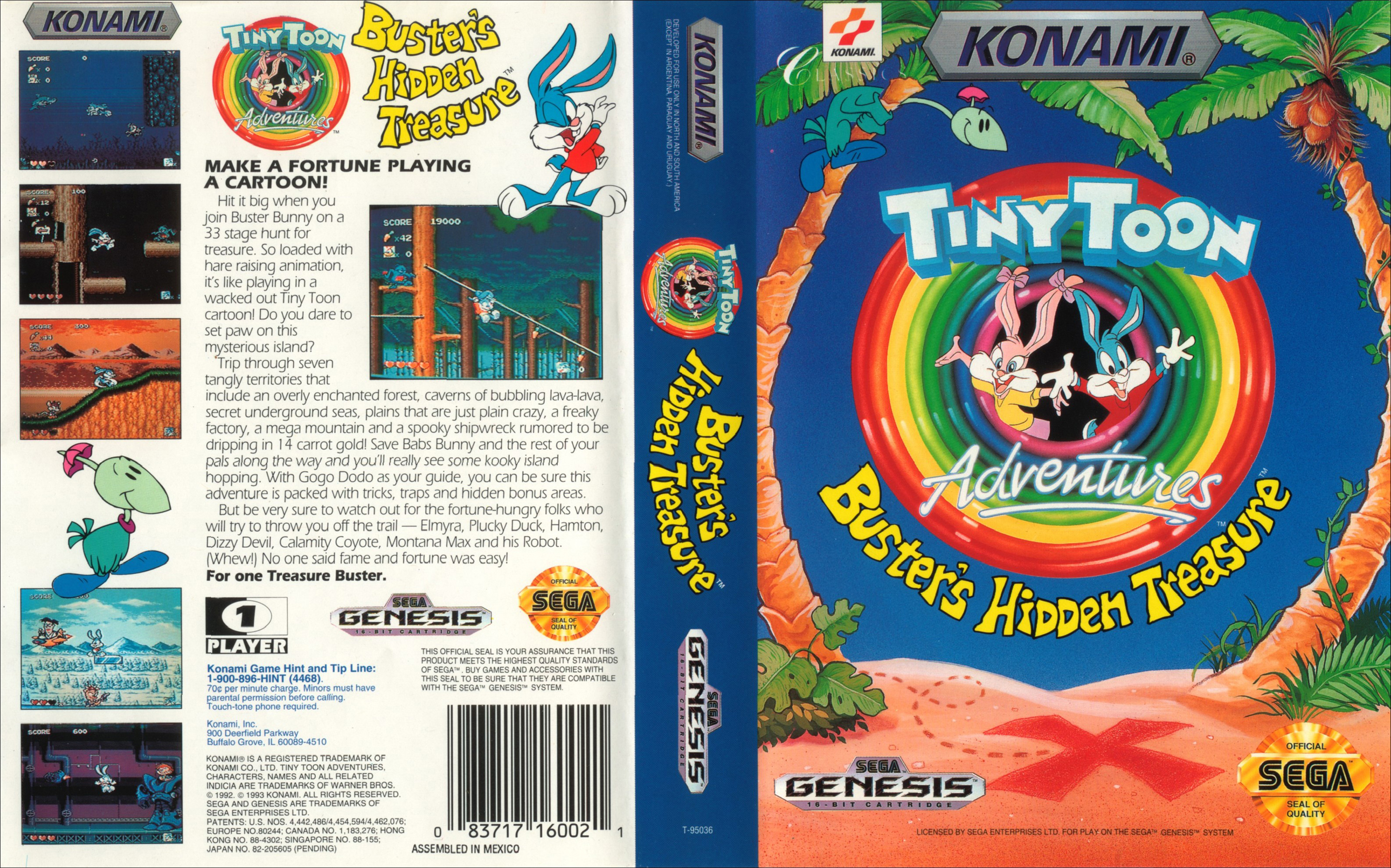 [Análise Retro Game] - TinyToons Adventures Buster's Hidden Treasure - Mega Drive/Genesis Tiny%20Toon%20Adventures%20-%20Buster%27s%20Hidden%20Treasure