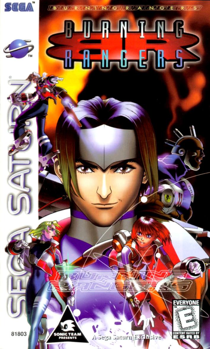 Sega Saturn B Burning Rangers U Game Covers Box Scans Box