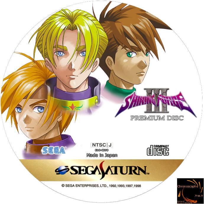 Sega Saturn S Shining Force 3 Premium Disc J Game Covers Box