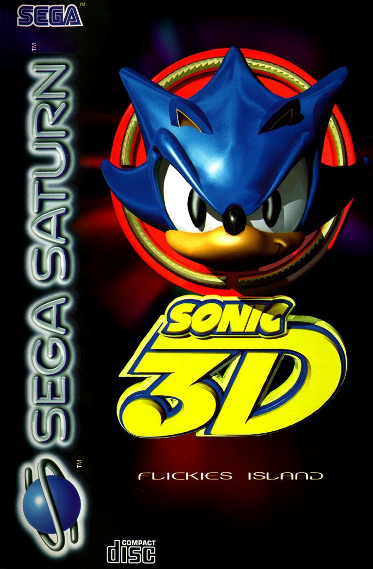 Sega Saturn S Sonic 3D Flickies Island E Game Covers Box ...
