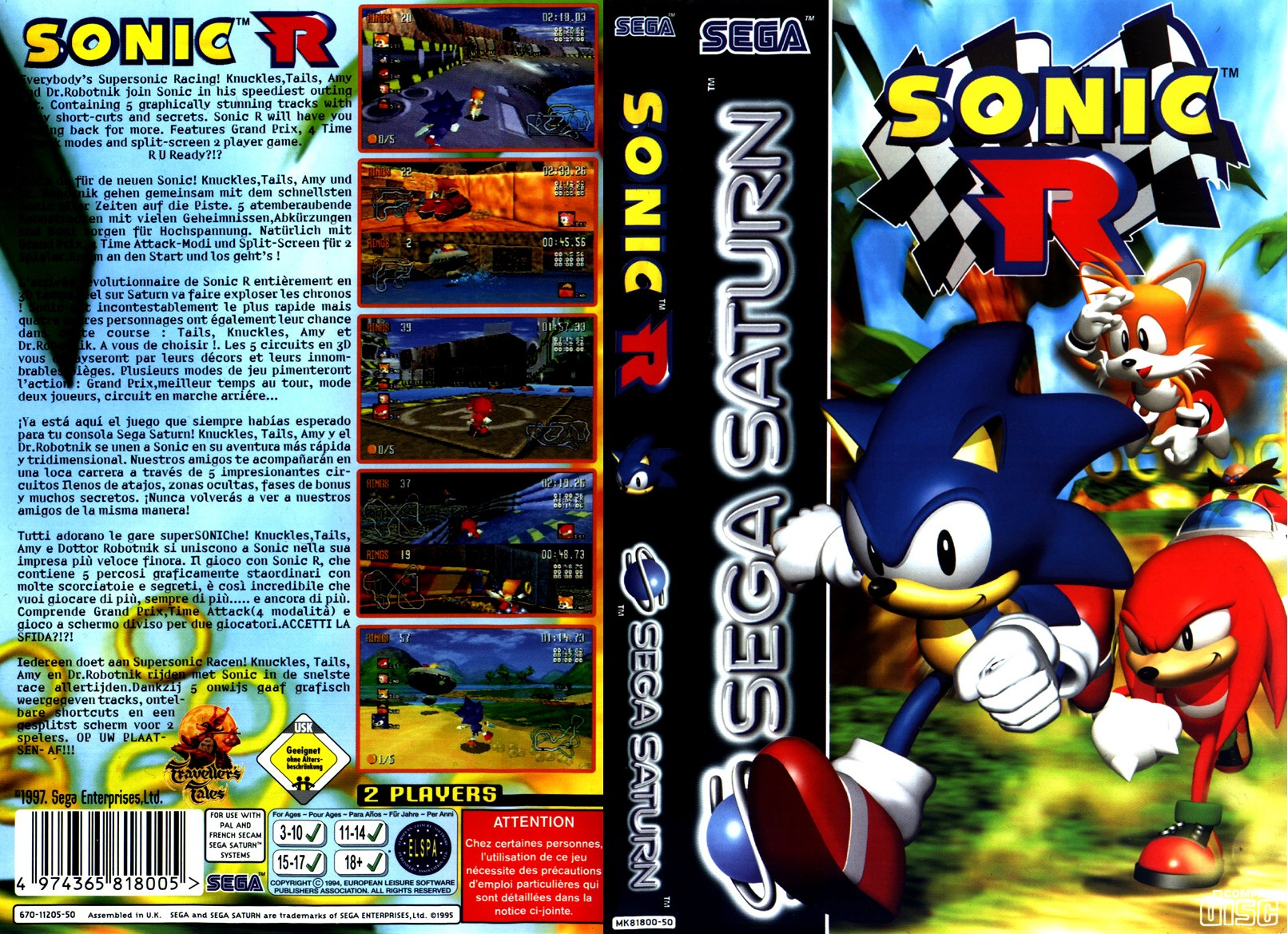 Sega Saturn S Sonic R E Game Covers Box Scans Box Art CD ...